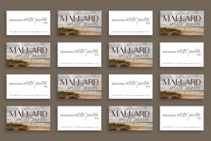 Mallard Artiste Peintre Business Cards Created by Creative Lillie